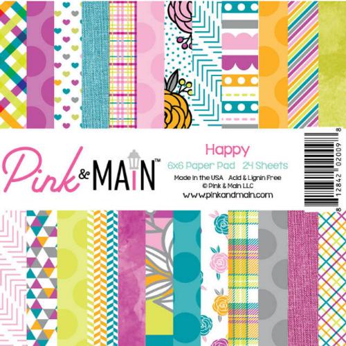 Pink & Main 6x6 Paper Pad: Happy