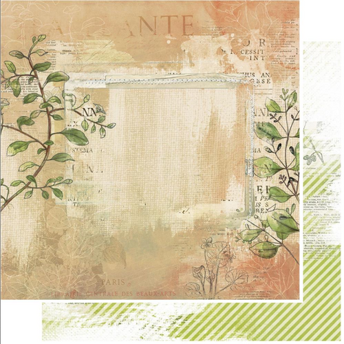 49 and Market Vintage Artistry 12x12 Paper: Hike More | Bramble