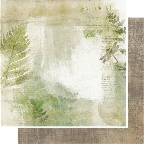 49 and Market Vintage Artistry 12x12 Paper: Hike More   In the Thicket