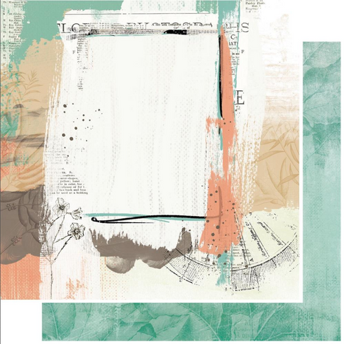 49 and Market Vintage Artistry 12x12 Paper: Hike More | Abyss