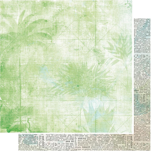 49 and Market Vintage Artistry 12x12 Paper: Beached   Palm
