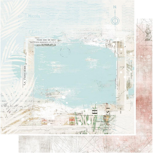 49 and Market Vintage Artistry 12x12 Paper: Beached   Unchartered