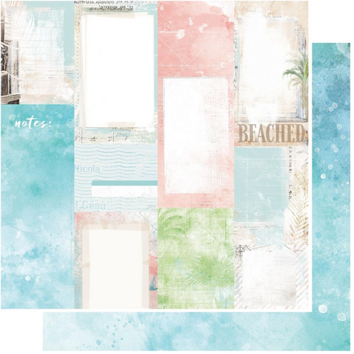 49 and Market Vintage Artistry 12x12 Paper: Beached   Journal Cards