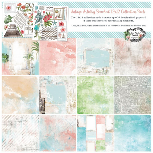 49 and Market Vintage Artistry 12x12 Collection Pack: Beached