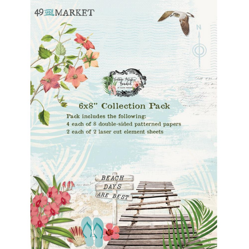 49 and Market Vintage Artistry 6x8 Collection Pack: Beached