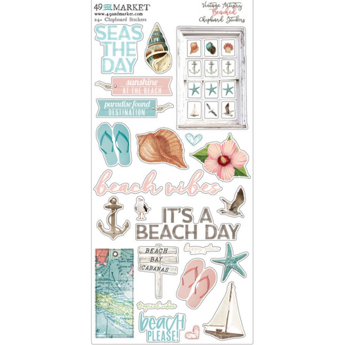 49 and Market Vintage Artistry 6x12 Chipboard Stickers: Beached