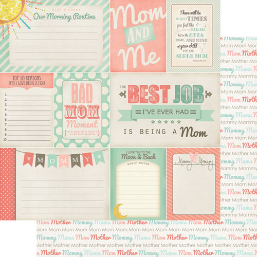 Scrapbook Customs 12x12 Family Themed Paper: Mommy Journal
