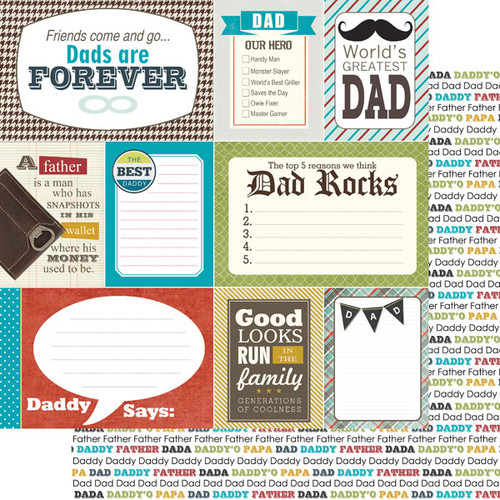 Scrapbook Customs 12x12 Family Themed Paper: Daddy Journal