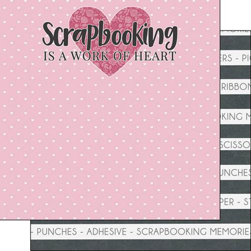 Scrapbook Customs 12x12 Scrapbooking Themed Paper: Work of Heart