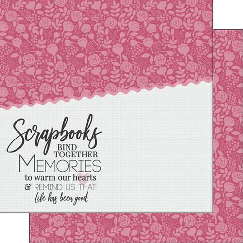 Scrapbook Customs 12x12 Scrapbooking Themed Paper: Bind Together