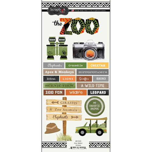 Scrapbook Customs Zoo Sticker: Safari