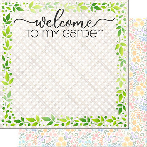 Scrapbook Customs 12x12 Occupations Themed Paper: Gardening Welcome