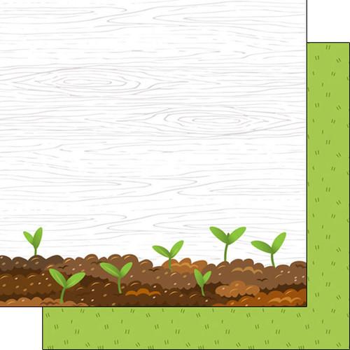 Scrapbook Customs 12x12 Occupations Themed Paper: Gardening Plants