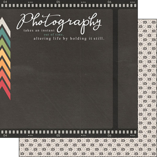 Scrapbook Customs 12x12 Occupations Themed Paper: Photography Phrase