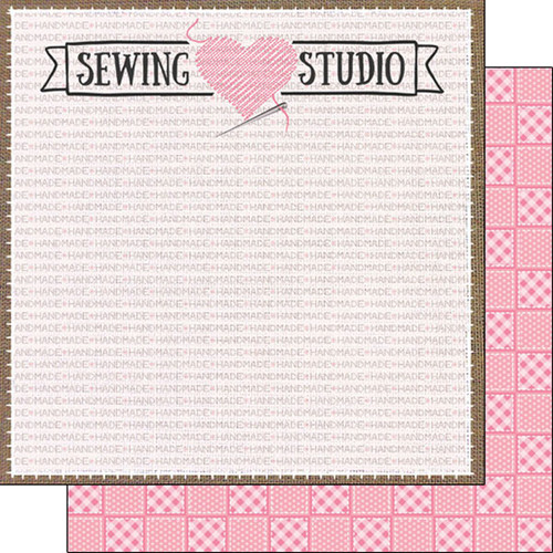 Scrapbook Customs 12x12 Occupations Themed Paper: Sewing Studio