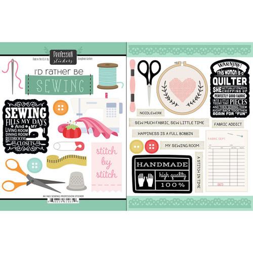 Scrapbook Customs Occupations Sticker: Sewing Profession