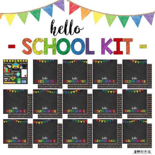 Scrapbook Customs 12x12 School Themed Collection Pack: Hello School