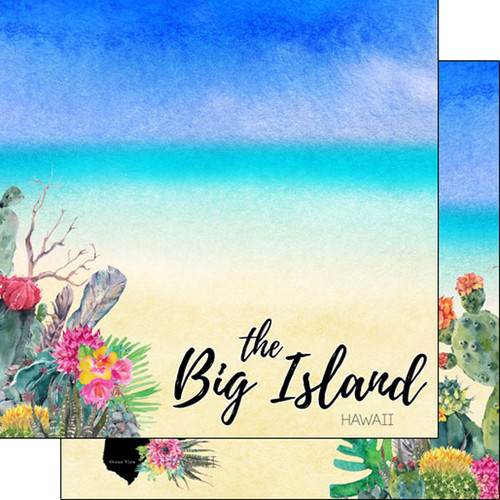 Scrapbook Customs 12x12 Travel Themed Paper: Big Island Getaway