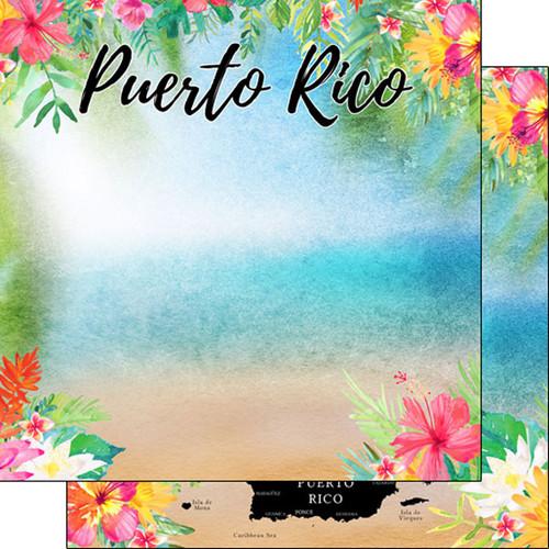 Scrapbook Customs 12x12 Travel Themed Paper: Puerto Rico Getaway