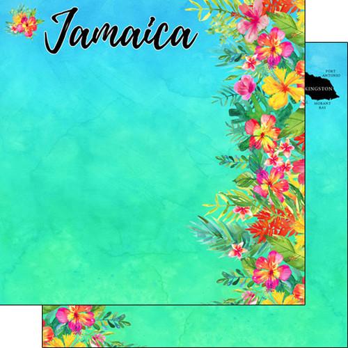 Scrapbook Customs 12x12 Travel Themed Paper: Jamaica Getaway