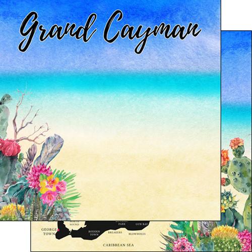 Scrapbook Customs 12x12 Travel Themed Paper: Grand Cayman Getaway