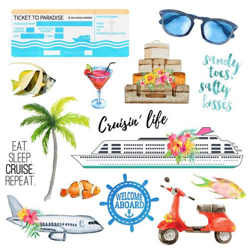 Scrapbook Customs 12x12 Travel Themed Paper: Getaway #2