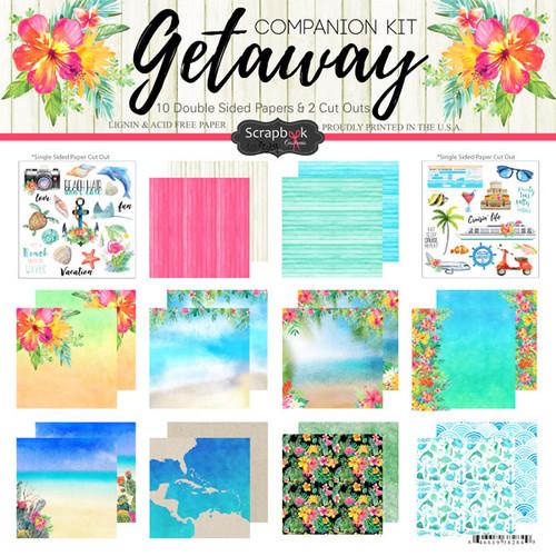 Scrapbook Customs 12x12 Travel Themed Paper Pack: Getaway Companion