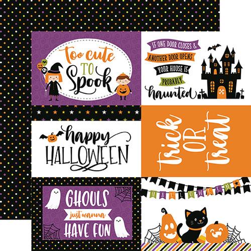 Echo Park Halloween Magic 12x12 Paper: 6X4 Journaling Cards