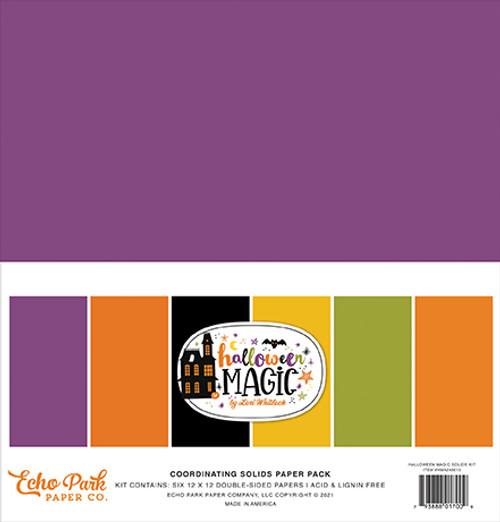 Echo Park Halloween Magic Solids Kit