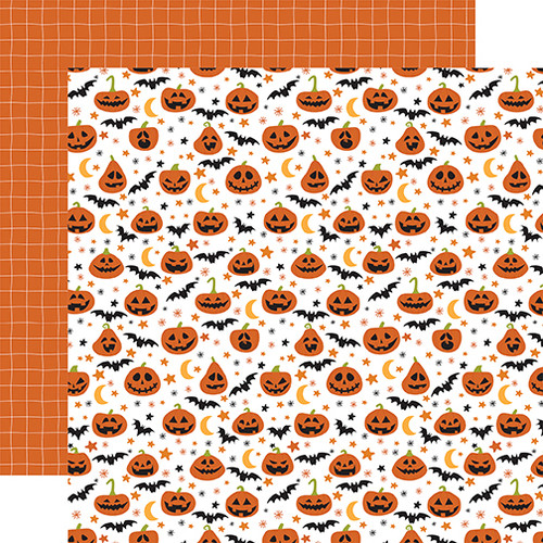 Echo Park Halloween Party 12x12 Paper: Gleaming Gourds
