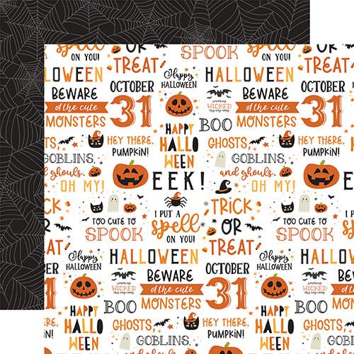 Echo Park Halloween Party 12x12 Paper: October 31st