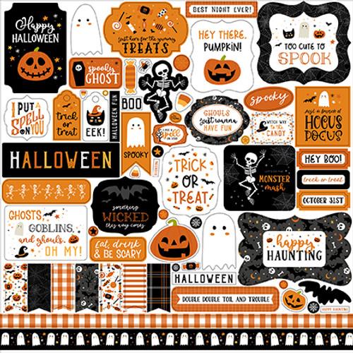 Echo Park Halloween Party Element Sticker