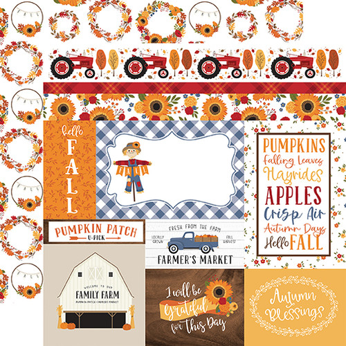 Echo Park Fall 12x12 Paper: Journaling Cards