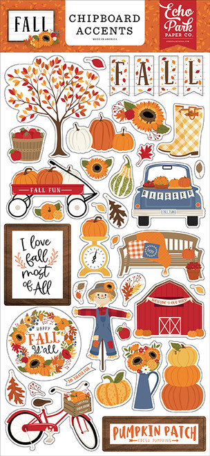 Echo Park Fall 6x13 Chipboard Accents
