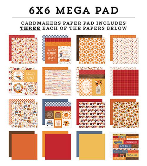 Echo Park Fall Cardmakers 6X6 Mega Pad