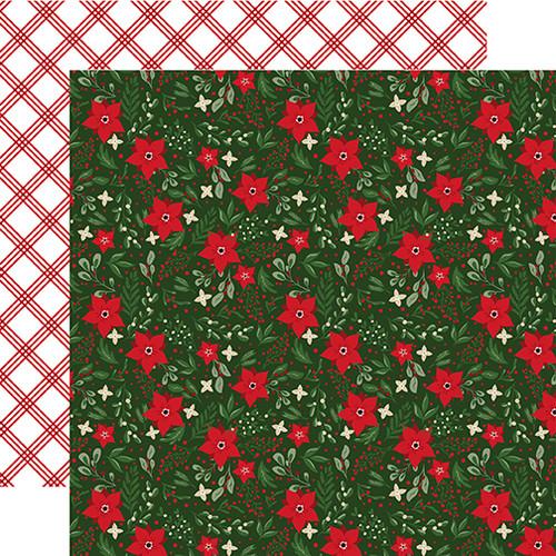 Echo Park Jingle All The Way 12x12 Paper: Festive Floral