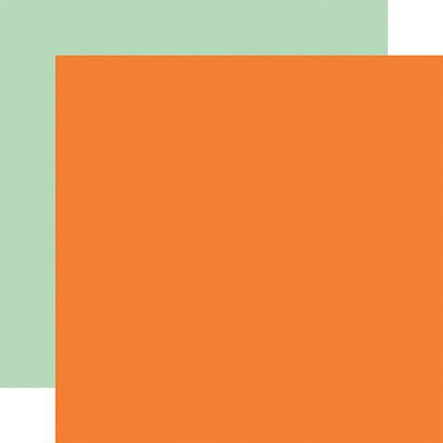 Carta Bella Welcome Autumn 12x12 Paper: Orange / Mint (Coordinating Solid)