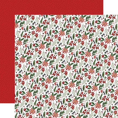 Carta Bella Home For Christmas 12x12 Paper: Christmas Farm Floral