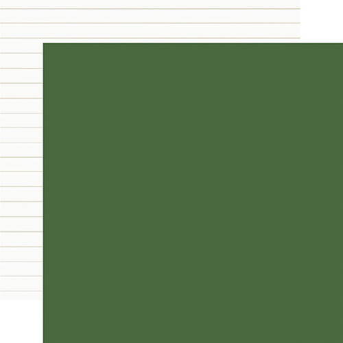 Carta Bella Home For Christmas 12x12 Paper: Green / Shiplap (Coordinating Solid)