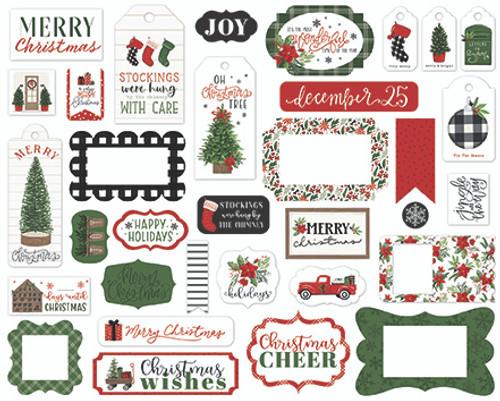 Carta Bella Home For Christmas Frames & Tags