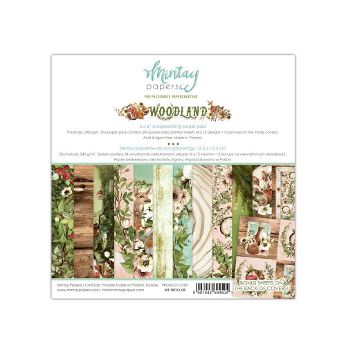 Mintay Papers 6x6 Paper Pad: Woodland