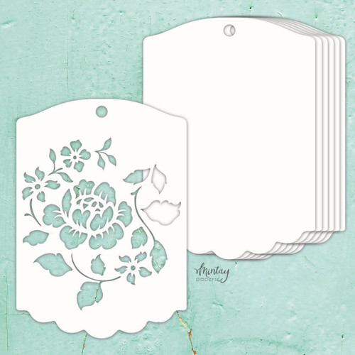 Mintay Papers Chippies Chipboard Album Base: Rose Tag