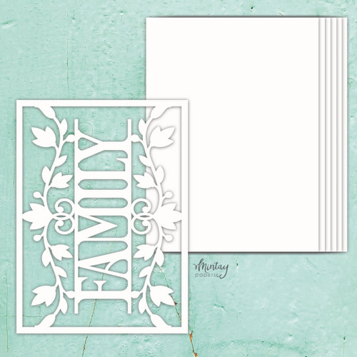 Mintay Papers Chippies Chipboard Album Base: Family