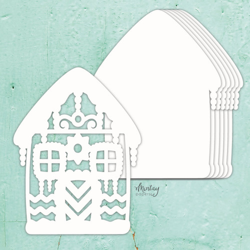 Mintay Papers Chippies Chipboard Album Base: Gingerbread House