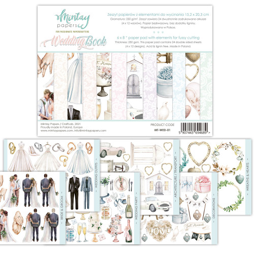 Mintay Papers Wedding Book 6x8 Paper Pad