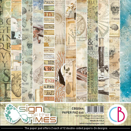 Ciao Bella Papercrafting 6x6 Paper Pad: Sign of the Times