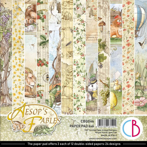 Ciao Bella Papercrafting 6x6 Paper Pad: Aesop's Fables