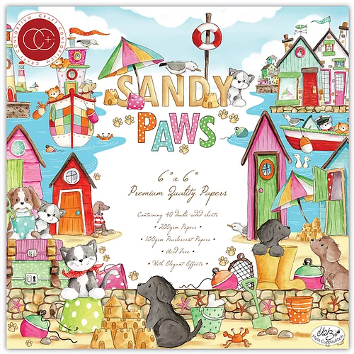 Craft Consortium 6x6 Paper Pad Premium Collection: Sandy Paws