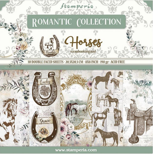 Stamperia 8x8 Paper Pack: Romantic Collection - Horses