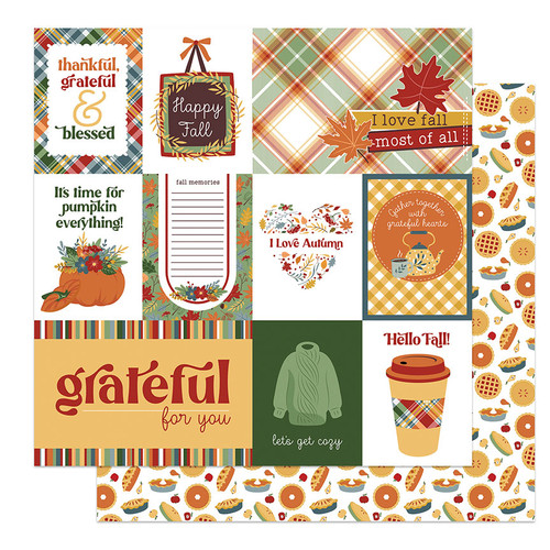 PhotoPlay Autumn Greetings 12x12 Paper: Happy Fall